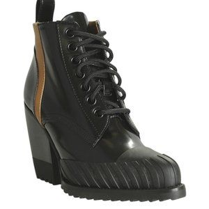 Chloe  Rylee Black Ankle Bootsx Size 37.5 189865